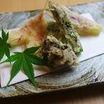 天ぷら うらかみ - 舞茸・アスパラ・茗荷