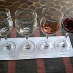 ワインカフェ 古壺 - ドリンク写真:かざまテイスティングセット