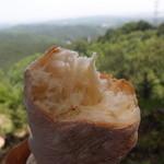 木の葉 - 根っこパン(割る)