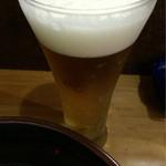 元祖 中洲屋台ラーメン 一竜 - 画像追加 ビール