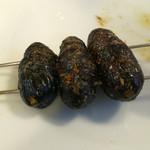隆福 - 蚕の串焼き