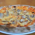 グリル青山農場 - 自家製ベーコンのピザ  ¥1,500