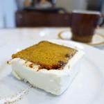 エルマーズグリーンカフェ - キャロットケーキ、エルマーズブレンド