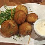 久茂地 肉寿司 - マッシュルームのフリット