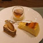 アッピア アルタ - ドルチェ (コーヒーモカ、チーズスフレ、デコポンのブリュレ)