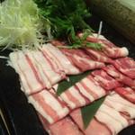 お菜屋 わだ家 - わだ家流!豚のしゃぶしゃぶのお肉