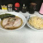 大八 - 料理写真:チャーシューメン&チャーハンセット 750円