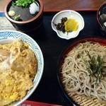 ことぶき茶屋 - 料理写真:カツ丼(小そば付)