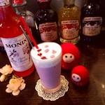 Cafe de 武 - マンスリーメニュー 桜ベリーミルク