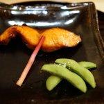 新ばし 笹田 - 大目鱒の塩焼き