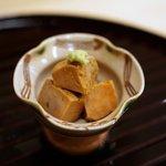 新ばし 笹田 - あん肝の煮付け