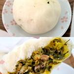 福慶 - 高菜肉包¥138。個人的に1番好きなお味です。高菜はあまり辛くなくて、さっぱりとしています。