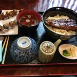 うなぎの緒里 - 2016年5月中旬  うな丼定食と肝焼き