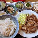 高田屋食堂 - 料理写真:生姜焼き定食(大盛り)(2016年5月)