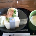 50979222 - お豆腐盛り(豆腐三種と豆乳)