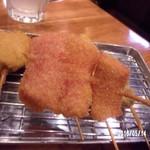 串揚げ ひふみ - 紅生姜