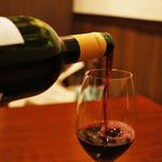 ハース - 飲み物は、ちょっと金額上乗せするだけでランチワインに変更可能。