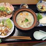 ミルクキッチン 燦燦 - 牧場ランチセット(炊き込みご飯・デザート・飲み物以外)