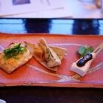ホテルハーヴェスト - 鮎魚女菜種焼き、豆腐田楽、筍木の芽和え