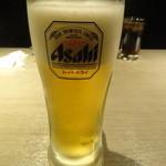 地鶏個室居酒屋 阿波尾鶏 - 生ビール