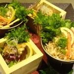 地鶏個室居酒屋 阿波尾鶏 - 阿波尾鶏の鶏皮ポン酢&阿波尾鶏の煮凝(税抜き4000円コース)