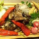 地鶏個室居酒屋 阿波尾鶏 - 阿波尾鶏の炭炙り焼き(税抜き4000円コース)