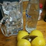 ばん - レモンサワーセット(サワー 300円、レモン 100円) 400円、ナカ 250円