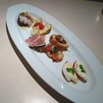トラットリア・デル・クアドリフォリオ - 前菜盛り合わせ