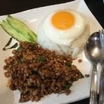 ゴーカオマンガイ - カオパッカパオ❗️ バジル炒めご飯