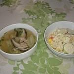 チョムパイ - 2015/08/25 20:20訪問:スープ&サラダ