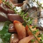 くるる - 姉妹店の「舞浜」より刺身を注文。 新鮮、プリップリです。