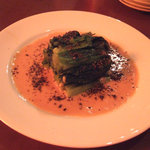 フロアー - 小松菜の白胡麻ソース