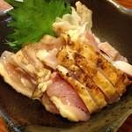 とり健 - 地鶏のタタキ