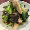 にほん酒や - 料理写真:ごぼうの茎と牡蠣のオイル漬け。茎のシャキシャキ感がよい味。