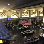 新千歳空港温泉 お食事処 - 新千歳空港温泉ロビーを二階から(^∇^)