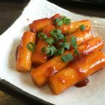 スンドゥブドゥビドゥブ - トッポギ@480円 甘辛い味噌が美味しい!やや高いけど(笑