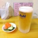 らーめん しゅん - 生ビール 中
