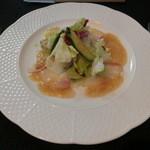 洋凡料理 NAKAMURA - 真鯛のカルパッチョサラダ仕立