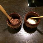 鍋ぞう - チョコレートアイスとバニラアイス