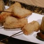 串揚げ 桂 - [料理]『串揚げ五本』(海老‣筍‣鯛‣ウド‣蛤) アップ♪w