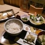 串揚げ 桂 - [料理] 昼御膳『ミニ和牛カツと串揚げ五本』セット全景♪w