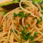 フィオリーレ - 桜えびと松本産アスパラのスパゲティー