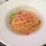 51014416 - 桜海老と枝豆のペペロンチーノ、、、
