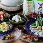 和菜 やなぎ  ふぐ はも - ハモしゃぶコース