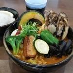 奥芝商店 - 「希少!! エビ豚スープ (+180円)」に「遠藤農産まいたけ (250円)」のトッピング!