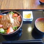 レストラン 旅篭 - こぶ黒牛ステーキ丼 2016.5月