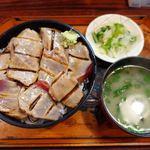 食事処 たけ - 料理写真:本まぐろ(赤)炙りづけ丼 950円