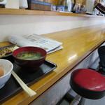 男の厨房 - おひとり様用カウンター席