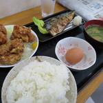 男の厨房 - 日替わり定食750円。
