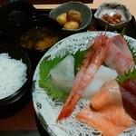 福福茶屋 - 「お造り定食 竹」1,580円